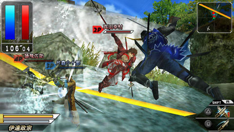 <STRONG>「戦国BASARA BATTLE HEROES」</STRONG><BR>チームバトルアクション。4月9日発売予定
