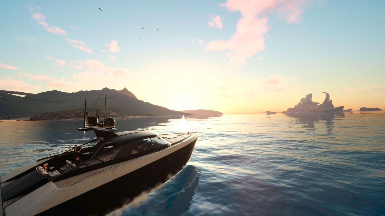 海の上をプレーヤーが操作するクルーザーで自由に移動可能になる