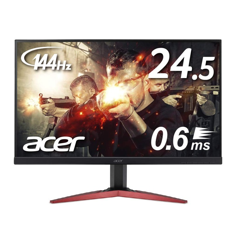 Acer フルHD 24.5インチ 0.6ms KG251QHbmidpx