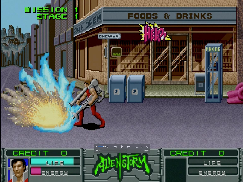 爽快アクションゲーム! 地球に襲来した凶悪な宇宙人を倒すため、エイリアンバスターズが街中を駆け抜ける!