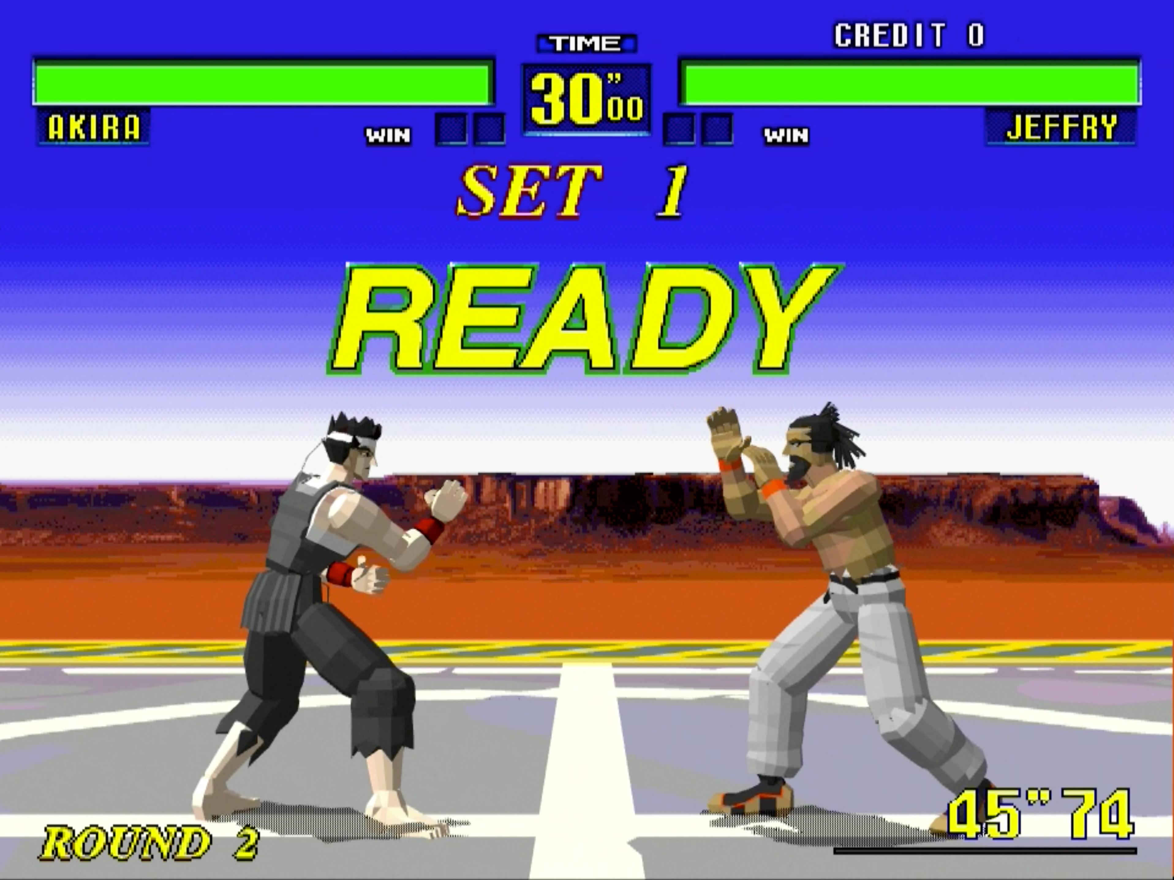世界初の3D格闘ゲーム。世界中から集まったあらゆる格闘家が己の肉体だけで死闘を繰り広げる。「世界格闘トーナメント」での優勝を目指せ!!