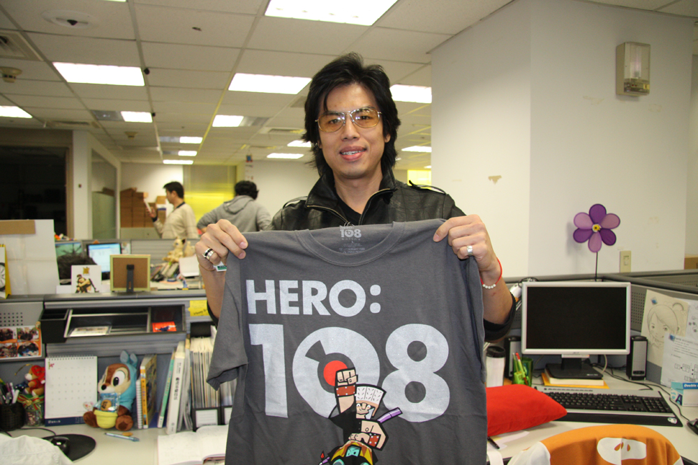 「HERO:108 Online」の説明をしてくれた、RedGate Games RD Dep2 Assistant Project ManagerのArthur Shen氏