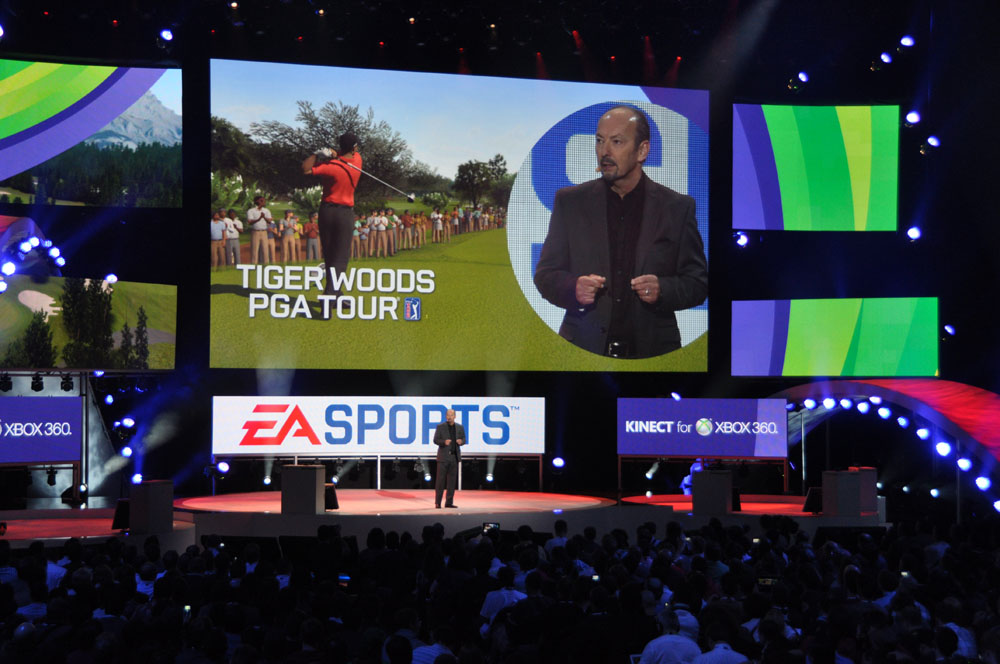 「TIGER WOODS PGA TOUR」、「FIFA」、「MADDENN NFL」、全てがKinectに対応