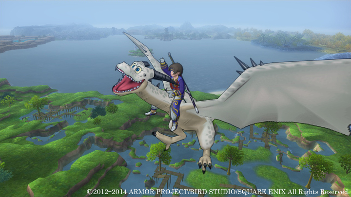 おや!?「ドラゴンクエストX」が楽しそう 遂にドラゴンに乗り上空へ!