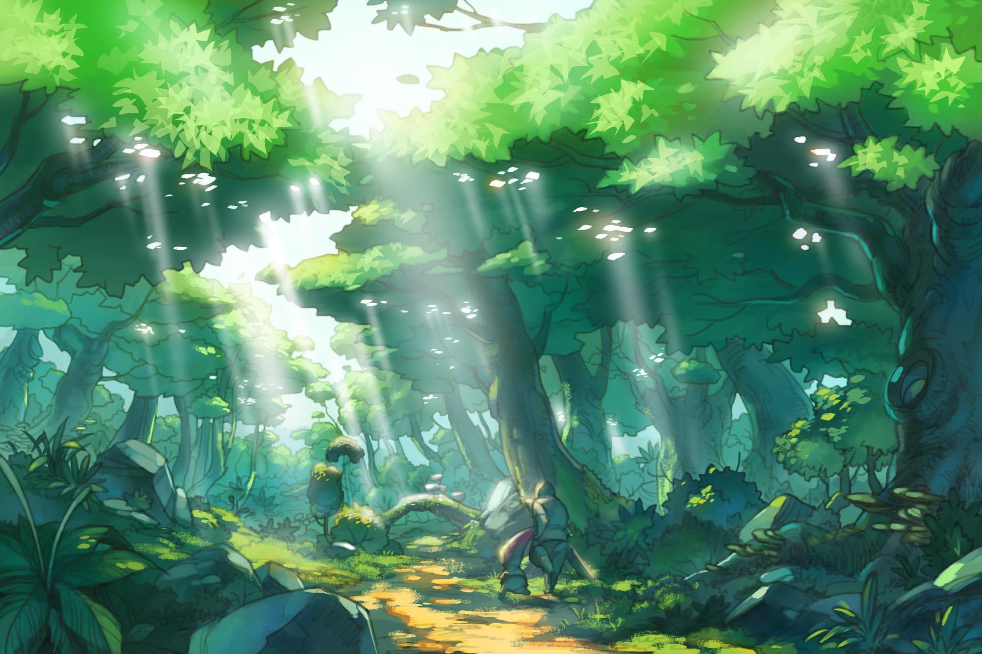 森 イラスト 背景 | 7331 イラス