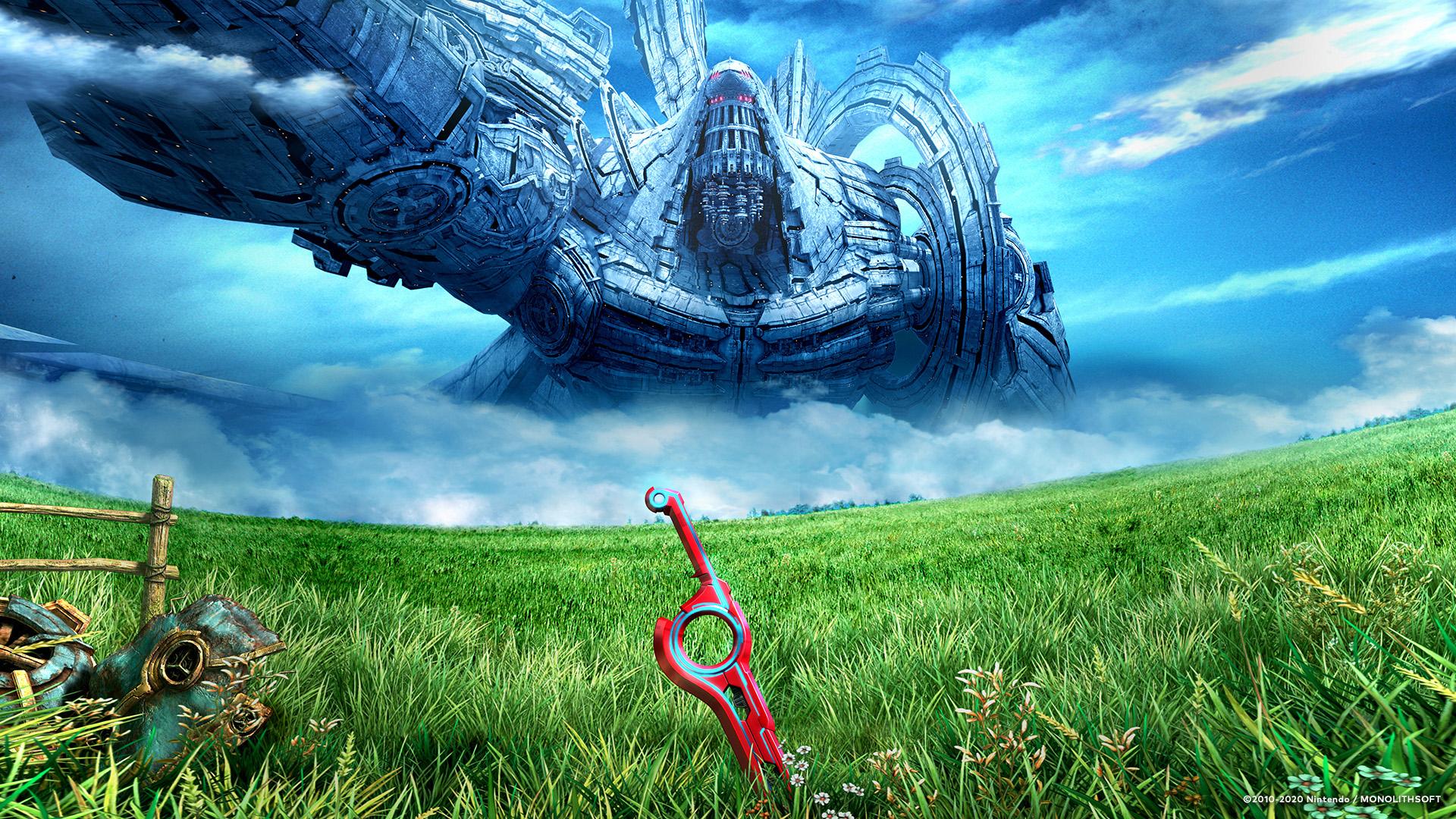 ゼノブレイド」シリーズより壁紙4種公開。広大な草原と雲が広がる青空 ...