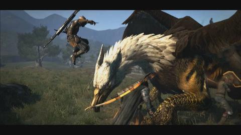 カプコン ps3 xbox 360 ドラゴンズ ドグマ griffin戦のプレイ
